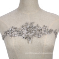 bridal dress handmade sew on crystal beads patch applique for decoration RM404