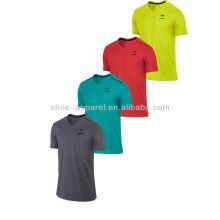 Camisa corriente de los hombres del diseño 2014, funcionamiento de la parte superior