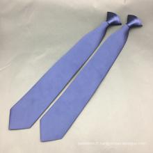 Clip tissé en jacquard de polyester sur cravate