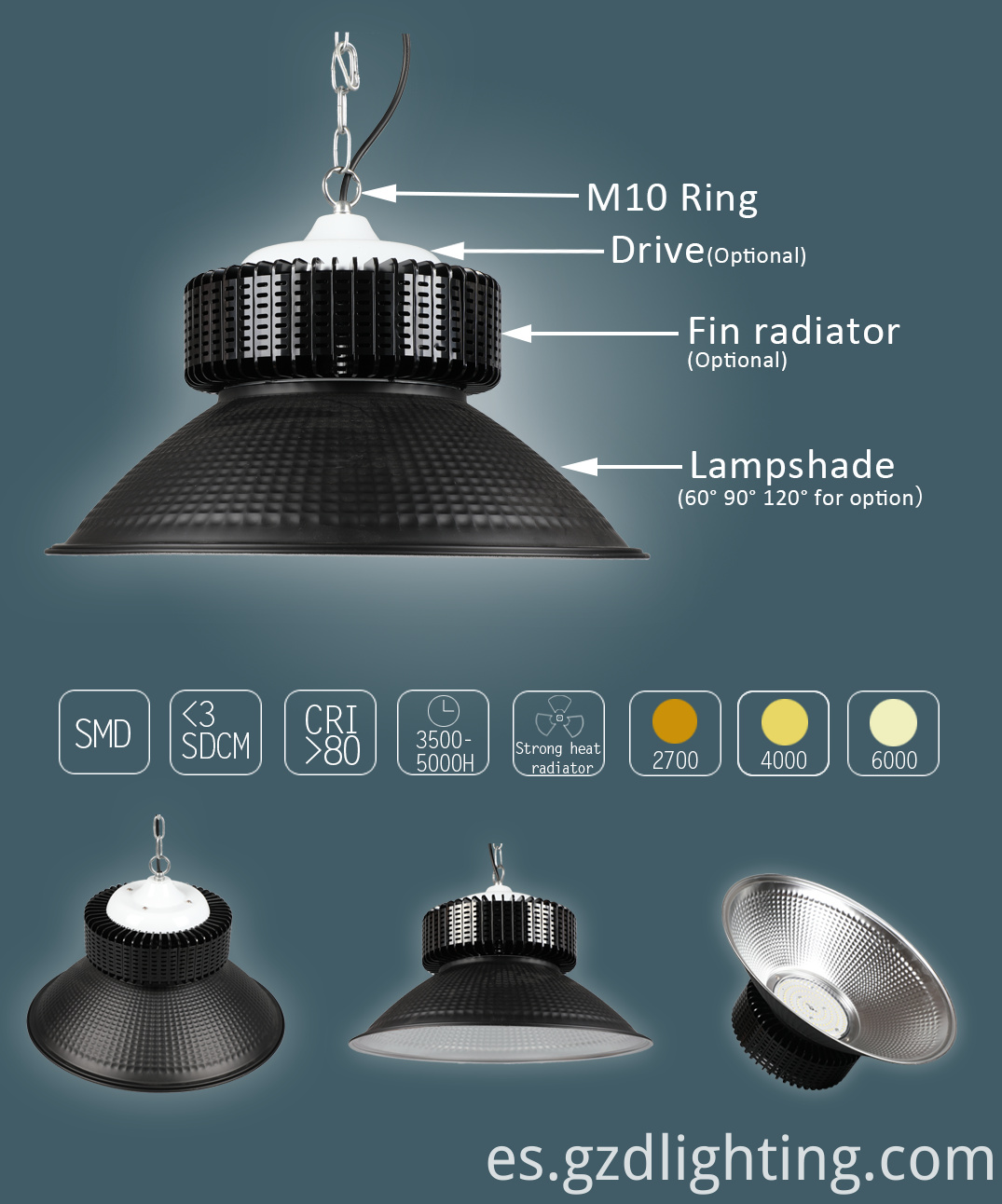 led high bay light detail-surround