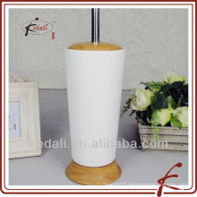 Fashion Wooden Ceramic Toilet Brush Holder Hot Sell 2015