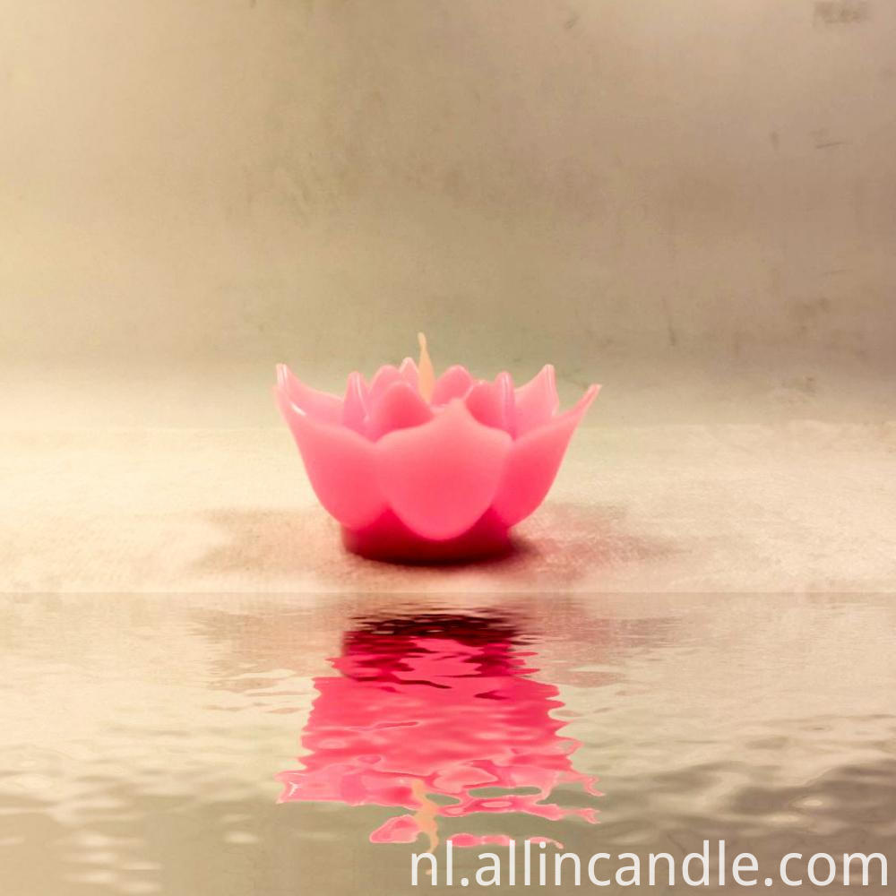 Led Lotus Candle 18