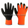 Акриловые работы перчатка с черным покрытием природных латексные (LY2026T)