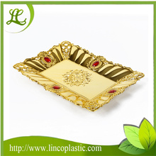 PP Electroplating Plastic Rectangular Fruit Tray/Plate