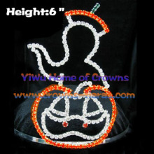 Devil Pumpkin Crystal Halloween Pageant Crowns