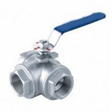 Нержавеющая сталь T тип женский шаровой кран клапана