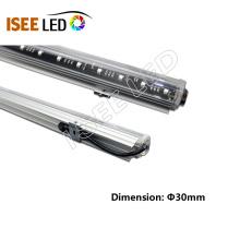 Mudança da cor das luzes do tubo do diodo emissor de luz da fachada dos meios