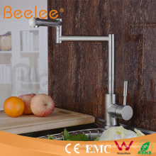 Robinet de cuisine Flexiblel 304 en acier inoxydable à une poignée Hs15008
