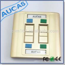 Plaque frontale Aucas rj45 Plaque frontale à 4 ports fermé spécial fini doré