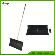 Poly Snow Pusher with Long Wood Handle