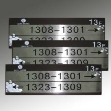 Numéro de pièce Plaque gravée en acier inoxydable
