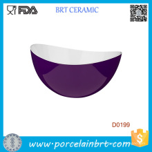 Premier Purple Outside White Inside Leichte Servierschale