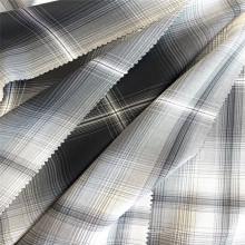 Tela tejida a cuadros teñida con hilo de rayón degradado