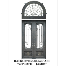 Front Door With Wrought Iron and Glass