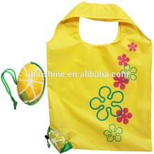 Promotional Foldable Polyester Shopping Bag , Polyester Foldable Bag , Easy To Carry Reusable Foldable Shopping Bag