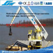 500tph Manuseamento de Granéis Flutuante Hydraulic E-Crane