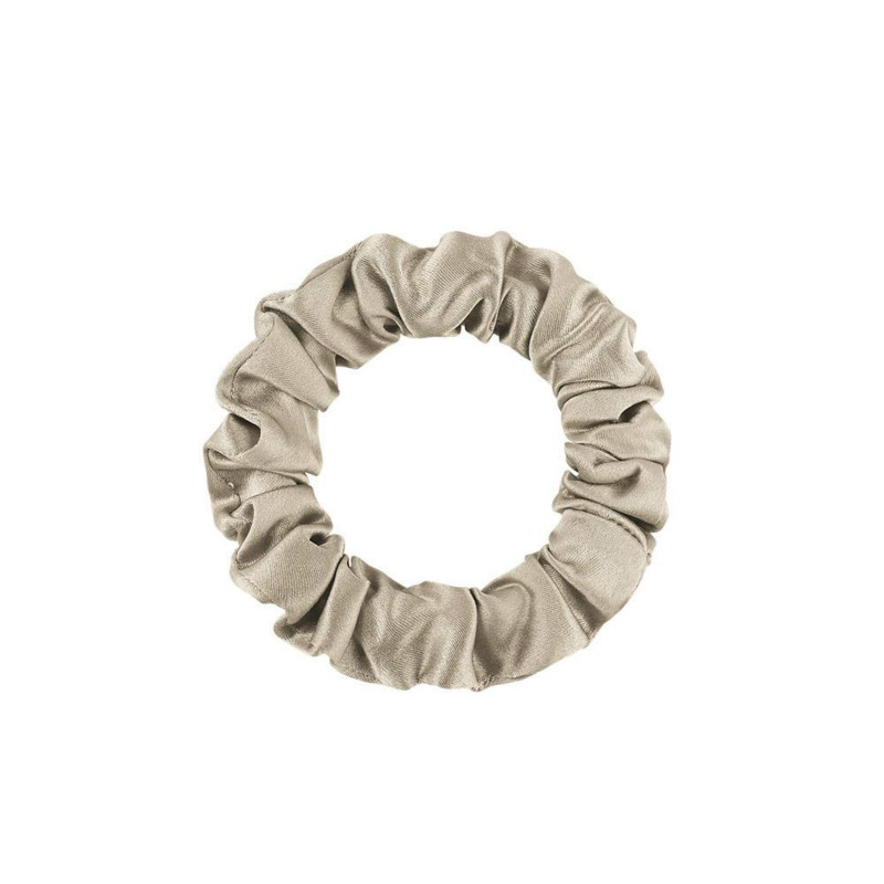 Coffee Silk Scrunchy