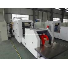 Máquina de fabricação de sacos de papel para alimentação de folhas de papel
