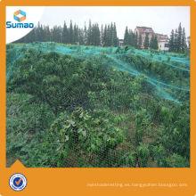 100% virgen hdpe agricultura huerta plástico anti granizo neto