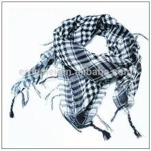 Мужская пряжа окрашенная квадратная черная hijab шарф