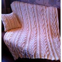 Nuevo manta tejida a mano de diseño personalizado de moda