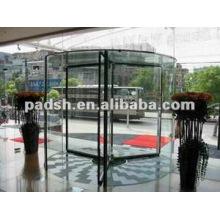 Porte tournante en verre automatique à 3 ailes
