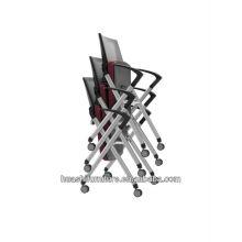 X2-03SHL Maille chaise de réunion empilable avec roulettes