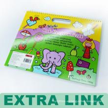 Diseño de moda Custom Hard Cover Coloring Children Printing Wire Binding Book