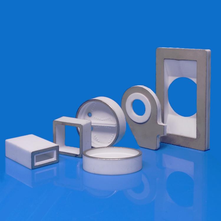 Metallized ceramic insulators