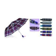 Check Compact Duomatick Windproof Umbrellas (YS-3FD22083522R)
