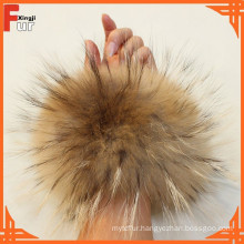 2016 Hot Sale Luxury Raccoon Fur Cuff