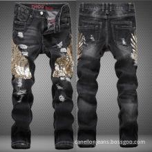 Fashion Men's Eagle Black Jeans