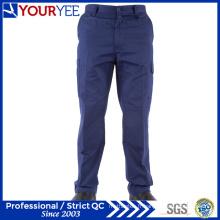 Pantalons de travail personnalisés personnalisés en bleu marine pour femmes (YWP115)