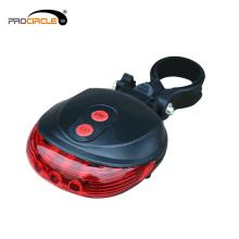 Botón de Control de Batería LED de Seguridad Luz de Parte Posterior de Bicicleta