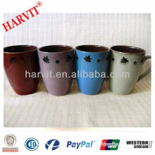 Ceramic Manufacturing in China Reactive Glazed Barrel Shaped Mug