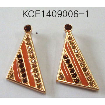 Triangle Earrings with Metal with SGS Approved