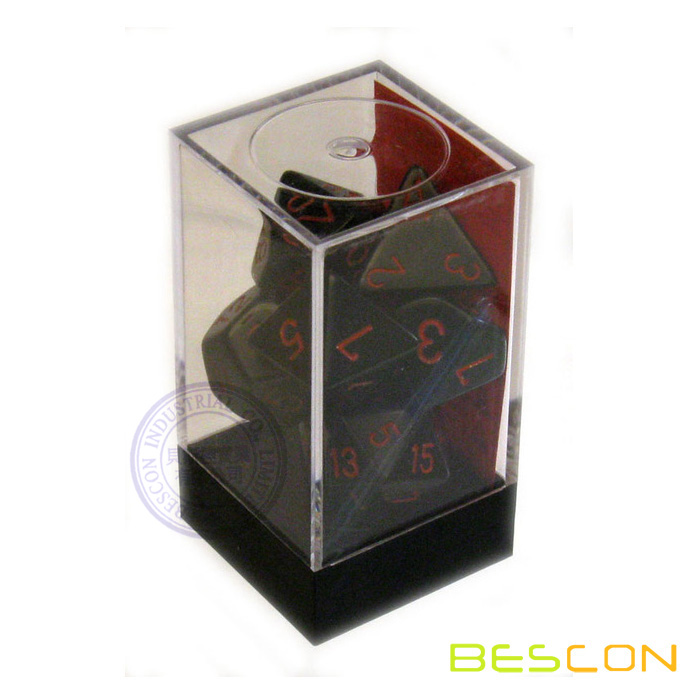 Black w/red 7-Piece Polyhedral Set Dice