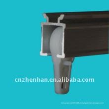 Componentes de toldo-Corredores de pista de cortina de plástico, soporte de carril de cortina dentro de cojinetes de bolas, accesorios de cortina