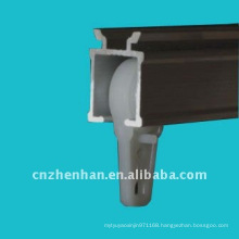 Awning components-Plastic curtain track runners,curtain rail carrier within ball bearing,curtain accessories