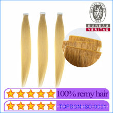 Human Hair Virgin Hair Wholesale Price 20 Inch 613# Color Blond Straight Hair New Style Hand Insert Tape Strip Hair Extension 100% Remy Hair