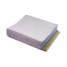 Formulário de papel autocopiativo de computador de camada única de cor branca
