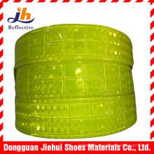 Fluoreszierenden gelben PVC-Mikro Prism Reflexfolie für Sicherheit Bekleidung