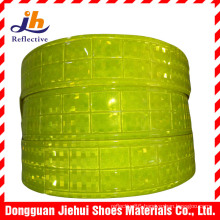 Fluorescent Yellow PVC Micro Prism Reflective Tape for Safety Garments