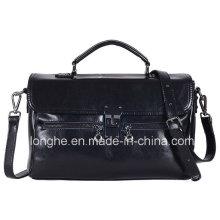 Doppel-Reißverschluss-Verschluss-Verschluss-Dame Handbag (LY0076)