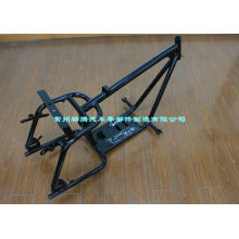 Chassis Rigid Motorcycle Frame With Syphon , Engine Mounting Plate
