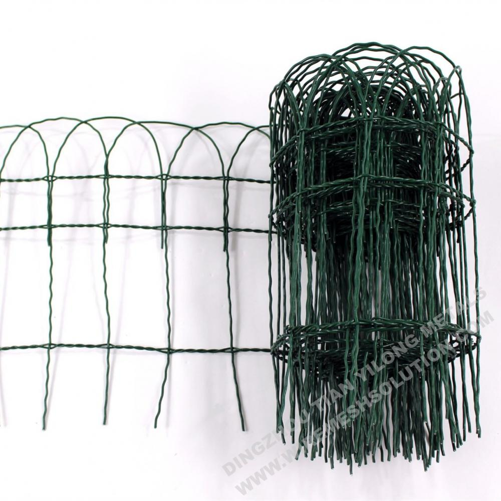 Arch Top PVC Galvanized Garden Fence