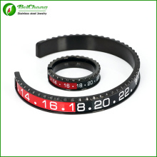 Tachymètre Bracelet et bague sertie dans l'acier inoxydable pour les hommes