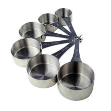 6 tazas de medición de acero inoxidable PCS