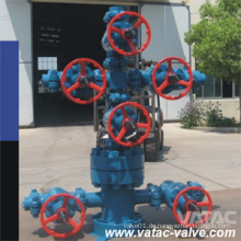 A216 Wcb / Lcb / CF8 / CF8m / CF3 / CF3m / legierter Stahl API 6A Weihnachtsbaum für Ölfeld u. Gas
