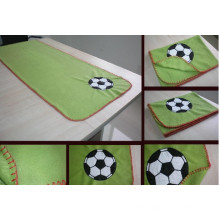 Polar Fleece Blanket With Embrodiery